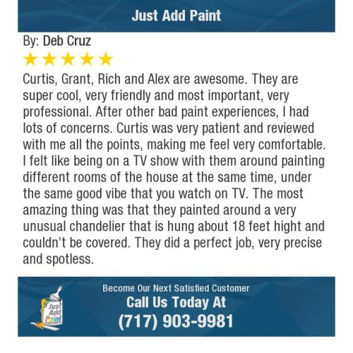 Just Add Paint highly rated house painters Mechanicsburg, PA