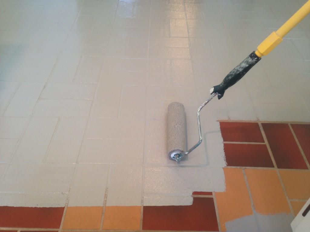 Painting ceramic tile floors kitchen