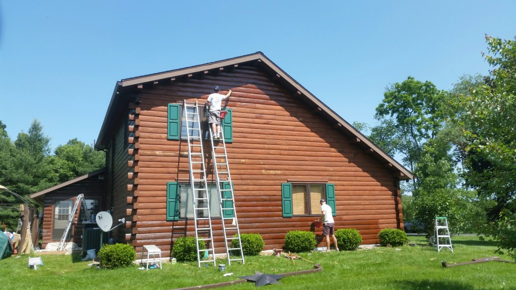 Carlisle Pa Cabin Stain Project Profile Just Add Paint