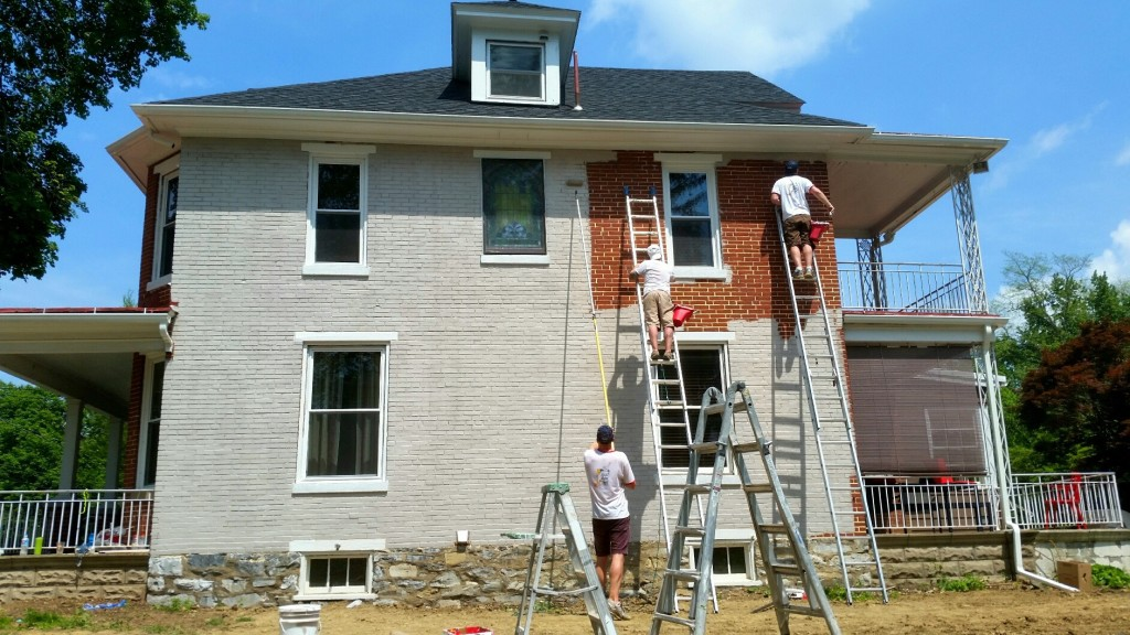 Just Add Paint Painting Brick During In Camp Hill Pa