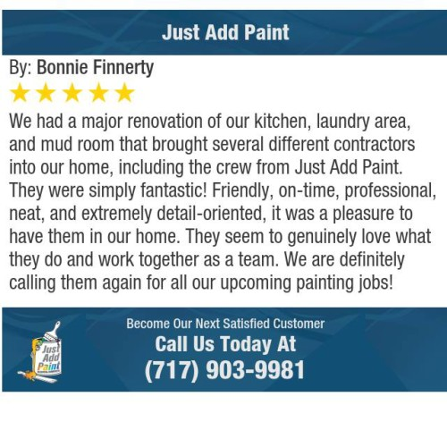 Just Add Paint 5-STAR review in Carlisle, PA