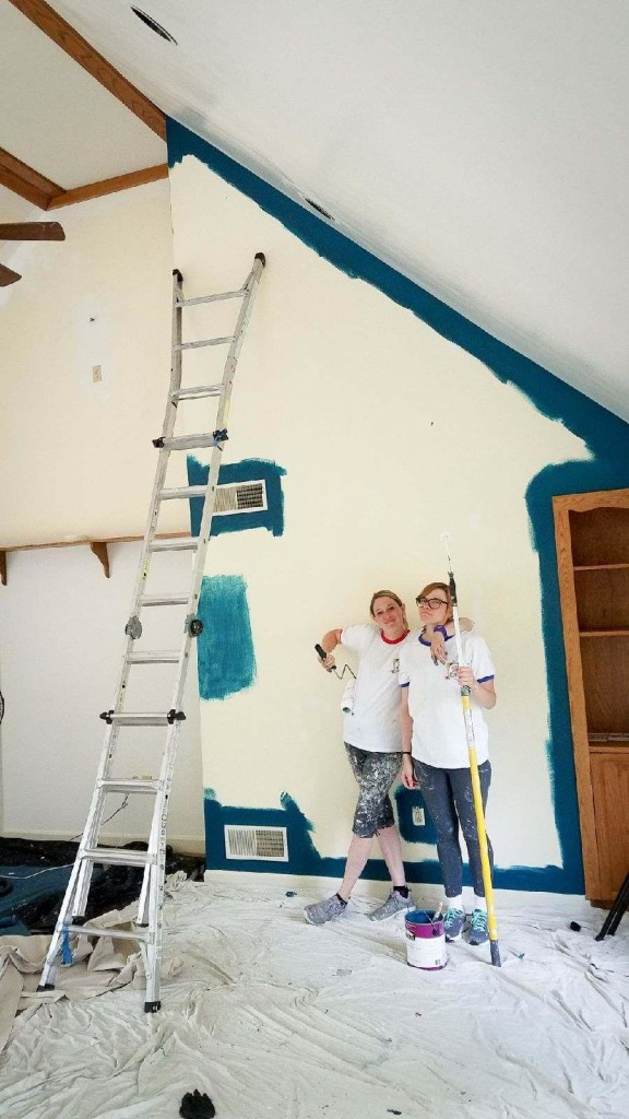 L&L Painting accent wall in Mechanicsburg PA